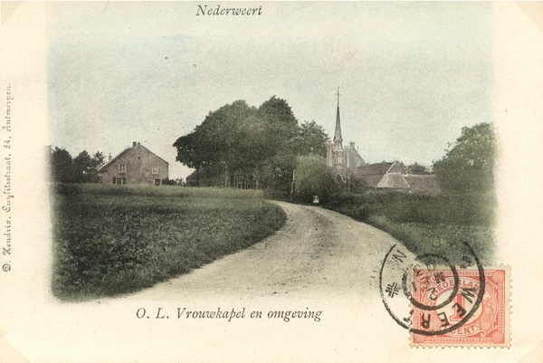 De OLV- of Straatjekapel in de Moesemansstraat in 1903